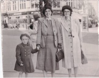 Two old aunties with a very young me taken at Southend, possibly. | Andrea Ash.