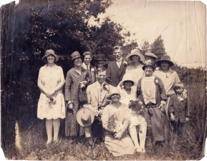 'Springfield' Basildon Road 1928 to 1955. | Wedding of Robert Mitchell and Nora Windley.  Photo taken at Watch House Farm where Nora was employed by the French family.
