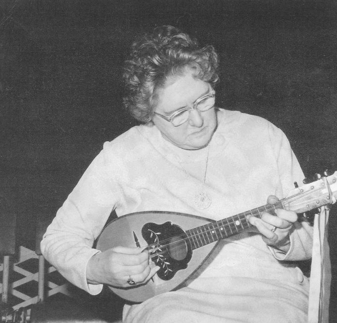 Annie Jones and her mandolin