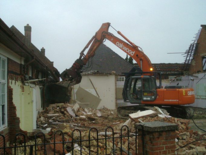 Laindon High Road School - More Photographs of its Destruction