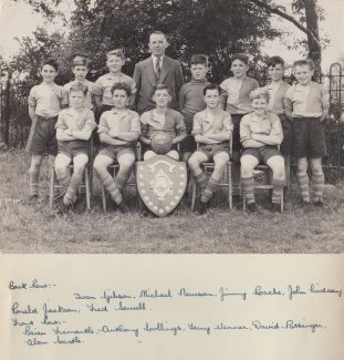 Football Team 1955-56 | Thanks to Ina Pike