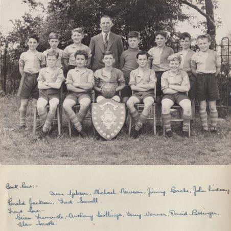 Football Team 1955-56 | Thanks to Ina Pike