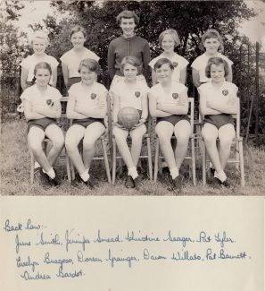 Netball Team 1955-56 | Thanks to Ina Pike