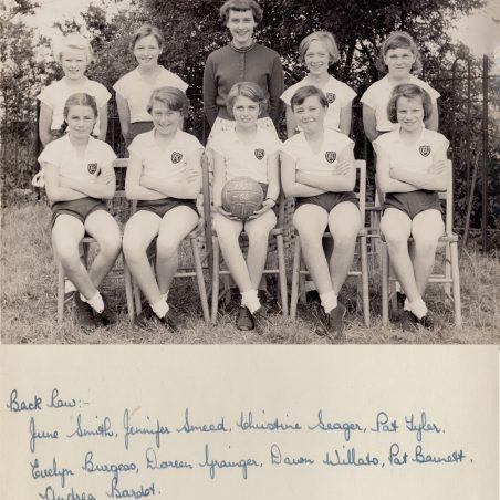 Netball Team 1955-56 | Thanks to Ina Pike