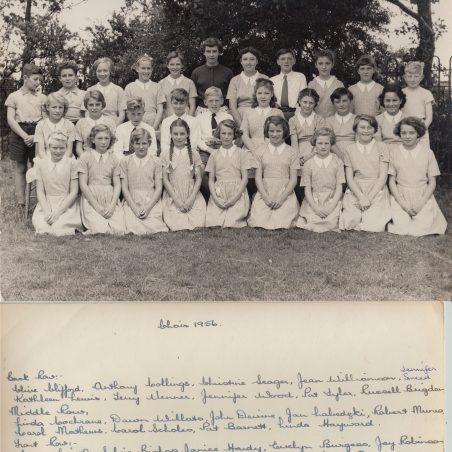 Choir 1956 | Thanks to Ina Pike