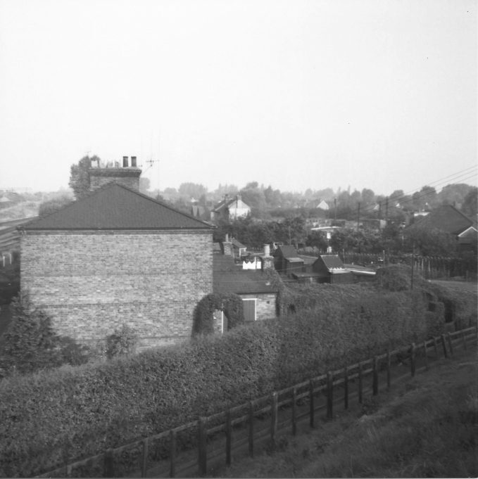 Railway Cottages, Laindon. There were eight. My wife Doris was born in No 3. Doris' aunt (Mrs Monk) lived in the end one, No 8.