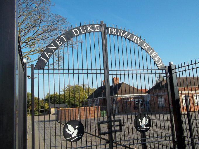 The school gates. | Nina Humphrey