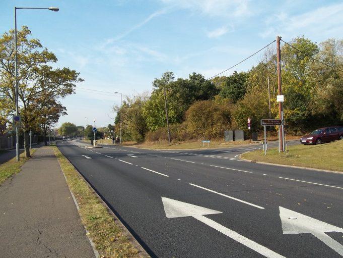 Church Hill on the right, looking towards Pound Lane.   Nina Humphrey