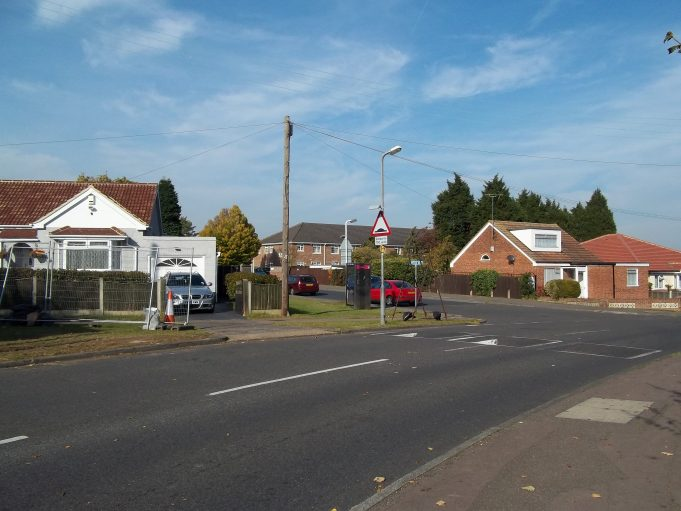 Basildon Drive, the turning for Tavistock Road just ahead on the left. | Nina Humphrey