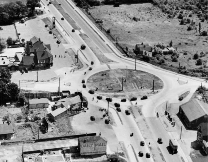 Aerial View of Fortune of War Roundabout