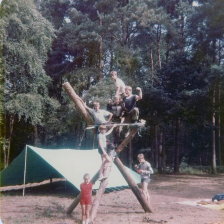 6th Laindon Scout Troop - summer camp, Thetford Forest, Norfolk approx. 1983.