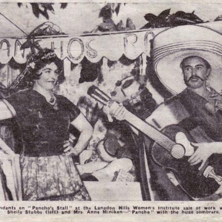 A bazaar in November 1961.  Sheila Stubbs and Anne Miniken on