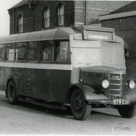 KTW239 - City Coach Company vehicle in Laindon Station yard.   Ann and John Rugg.