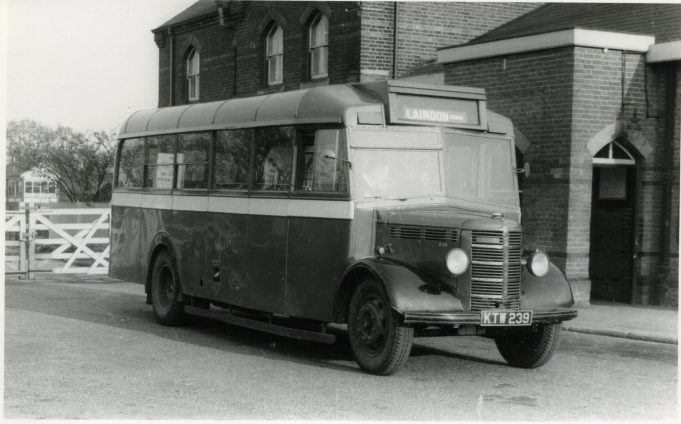 KTW239 - City Coach Company vehicle in Laindon Station yard. | Ann and John Rugg.