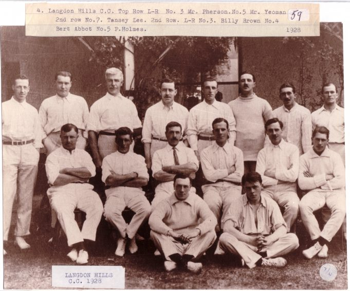 Langdon Hills Cricket Club 1928 - Click on photo to enlarge | Langdon Hills and District Conservation Society