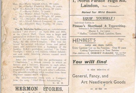 Laindon cum Basildon Parish Magazine June 1938