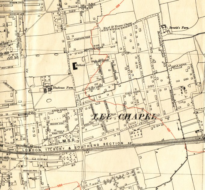 Elizabeth Drive located just below the words 'Lee Chapel'. Year 1938   The Ordnance Survey Office