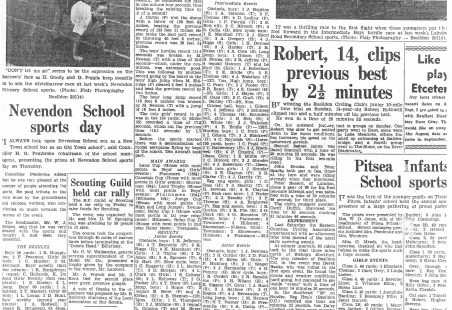 LHR School Sports Day Results 1959