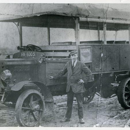 HK8005 ex London Bus owned by J Markham, Blue House Farm, Laindon, trading as 'Laindon Pioneer' - 1920.   Ann and John Rugg