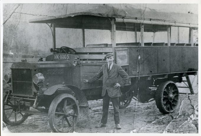 HK8005 ex London Bus owned by J Markham, Blue House Farm, Laindon, trading as 'Laindon Pioneer' - 1920. | Ann and John Rugg