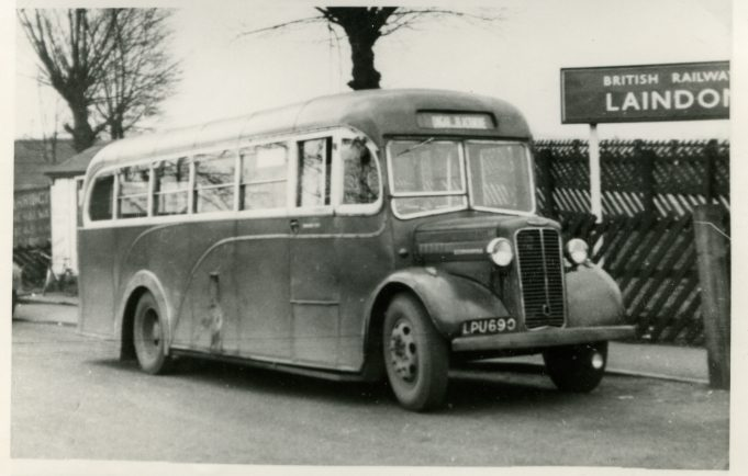 LPU690 - City Coach Company - vehicle in Laindon Station yard, going to Ongar via Blackmore. | Ann and John Rugg.