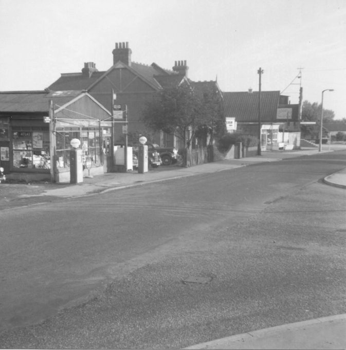 Parkinson's house, Wilson's house and shop, Denison's fish shop, Sharps radio (?), cinema. Doris worked in Wilson's chemist for many years until it closed.