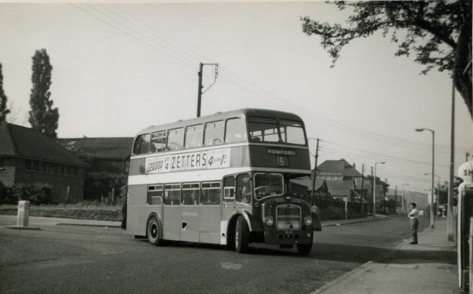 Eastern National bus on service 15 (ex 2a) being the first vehicle to operate along Laindon Link and High Road, Laindon to Romford (June 1961). | Ann and John Rugg.