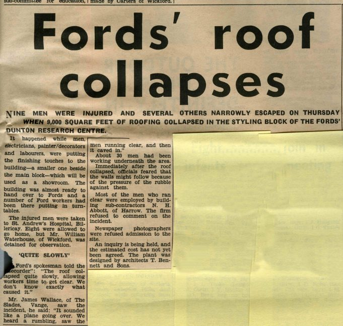 Fords Research Centre - Before and After   Laindon Recorder 1965.