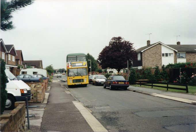 Eastern National service 500 in Worthing Road 1989 - short lived operation. | Ann and John Rugg.