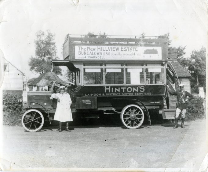 Hinton's Laindon and District Motor Services.  King's Road, Laindon, garaged in Francis's yard. | Ann and John Rugg