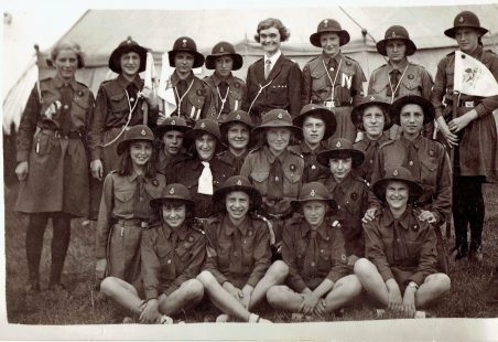 3rd Laindon Girl Guides July 1937.