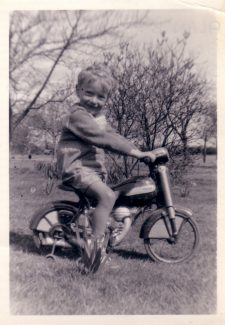 They started young in my family.  My brother Alan on his Mobo in the garden of Spion Kop 1953.