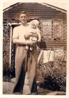 Me and my Dad, George, in front of Spion Kop 1939 | Anne Burton