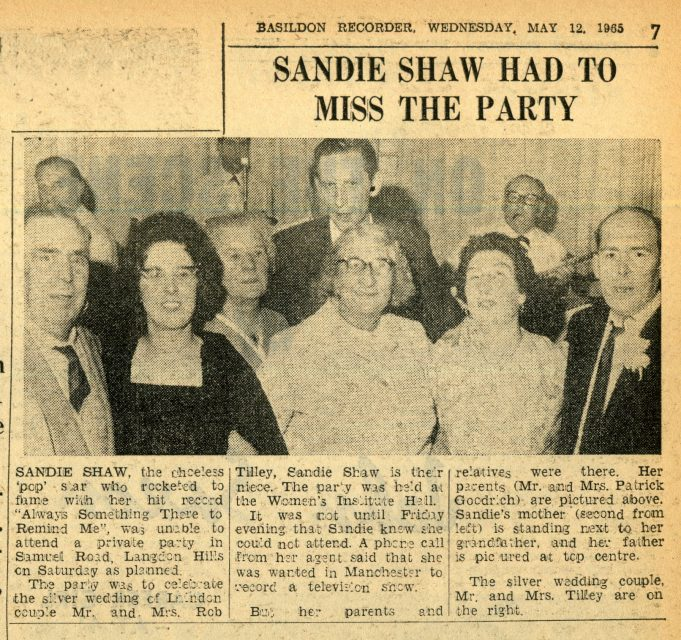 Silver Wedding Anniversary Party at the WI Hall | Basildon Recorder 1965.