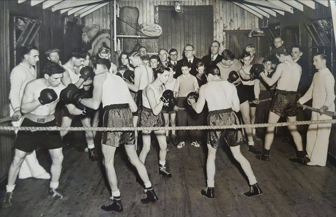 Berry Boys Boxing Club  Ken's father John Collier on the left wearing a cap | Michelle Collier