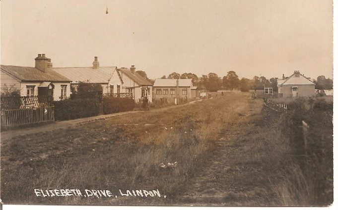This is Elizabeth Drive looking East before the road was made up.