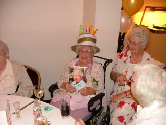 Ivy on her 100 birthday. August 2009
