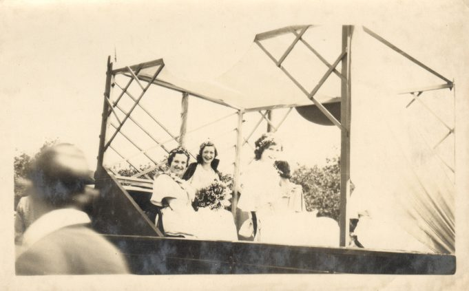 Laindon Carnival Queen Joan Bartle and Court 1958.
