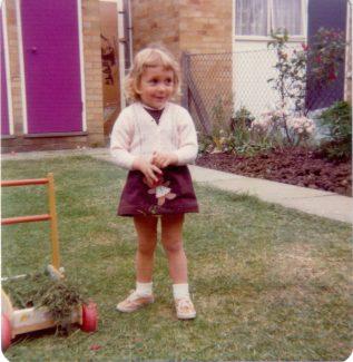 We even painted our shed door purple. 1976. Next door's shed is BDC dark blue. | Nina Humphrey (nee Burton)