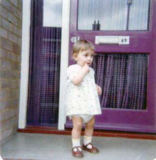 Our purple front door and purple vision net 1975. | Nina Humphrey (nee Burton)
