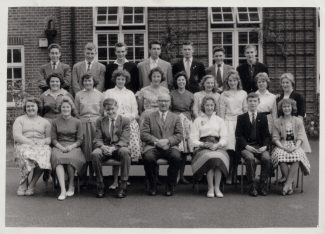 Prefects. 4X and 5X Laindon High Road School 1959/60. | Christine Honess