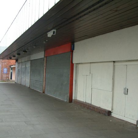 Now - Spot the Golden Gate Chinese Restaurant and takeaway among these boarded up shops | Ian Mott (1/8/2012)