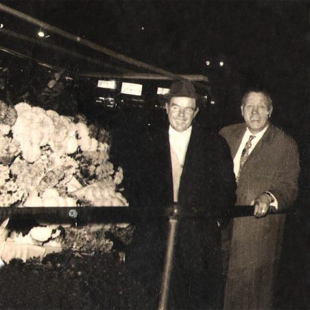 Dad (Nobby Sewell) & Friend at his flower stall