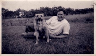 My Dad George with beloved pet Peter. | Anne Burton