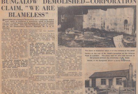 Bungalow Demolished