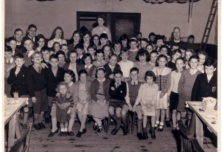 Christmas Party in St Nicholas Church Hall 1957.