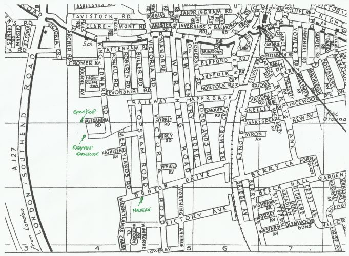 Dunton Drive and surrounding area. | Bebbington Street Map