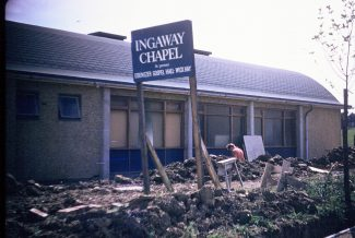 Ingaway being built   Roger Clark