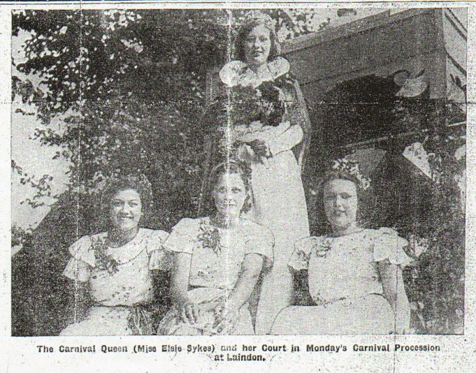Elsie Sykes and her court 1938