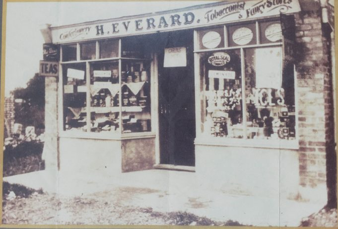 Undated photograph of H. Everard's shop | Vivienne Salmon nèe Bragg